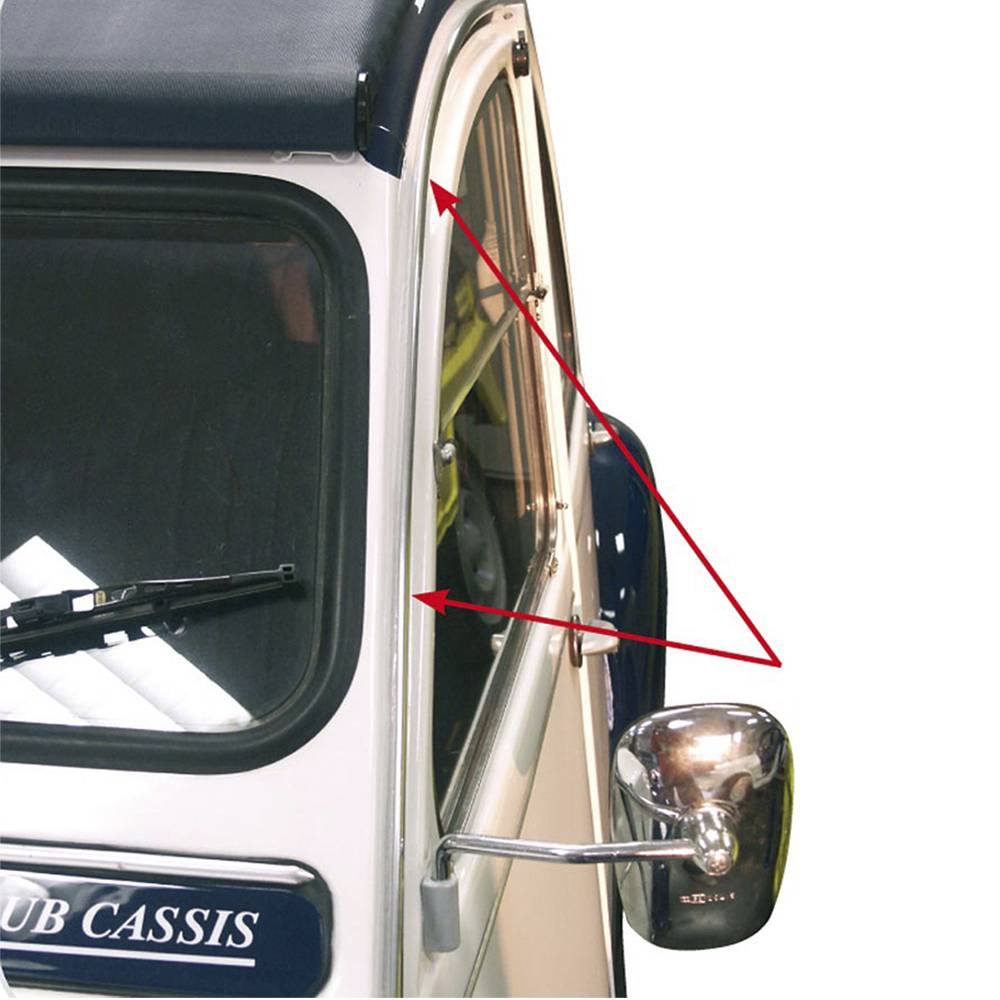 2CV GUTTER TRIM CHROME EACH SIDE