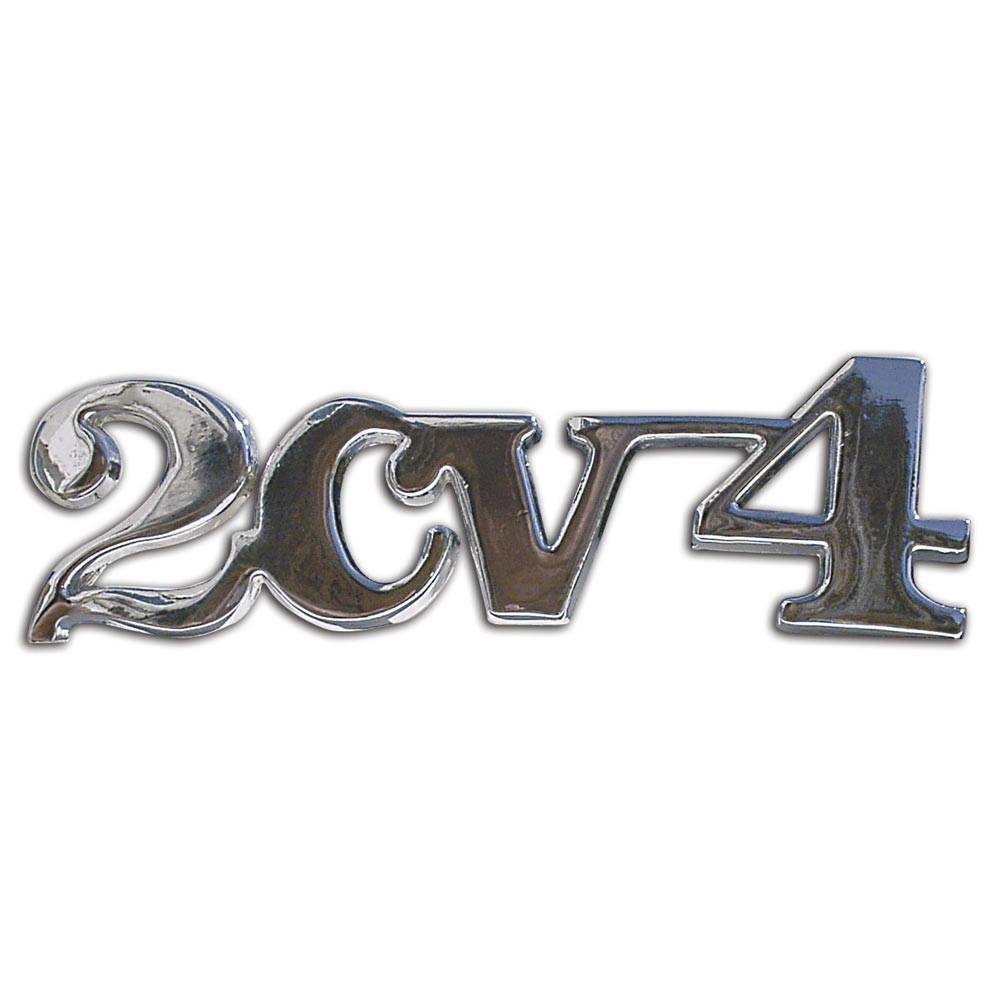 2CV BOOT BADGE 2CV4 – CHROME